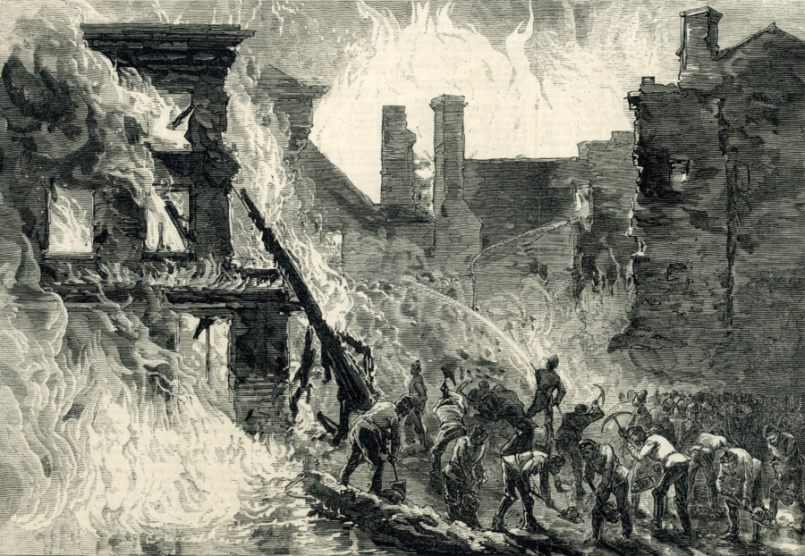 Illustration Of The Dublin Whiskey Fire
