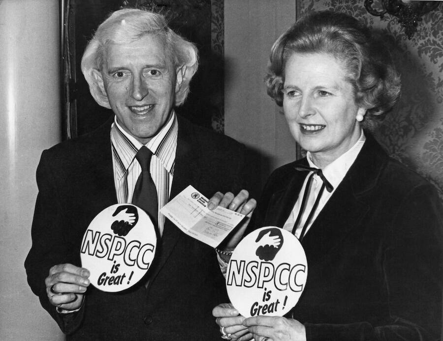Jimmy Savile With Margaret Thatcher