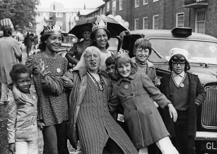 Jimmy Savile With Underprivileged Children
