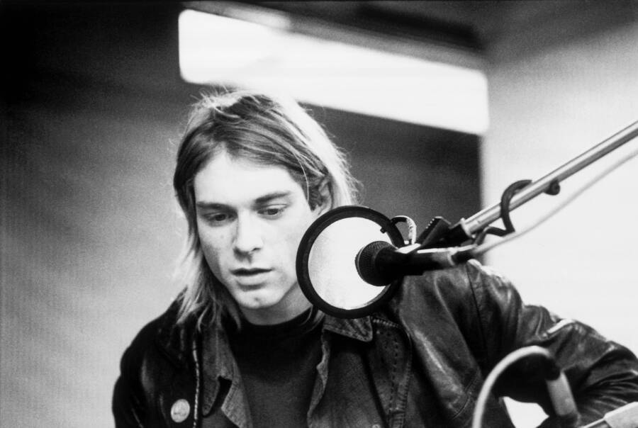 Kurt Cobain In The Studio