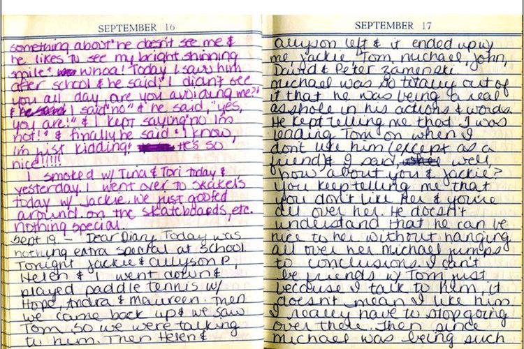 Martha Moxley Diary