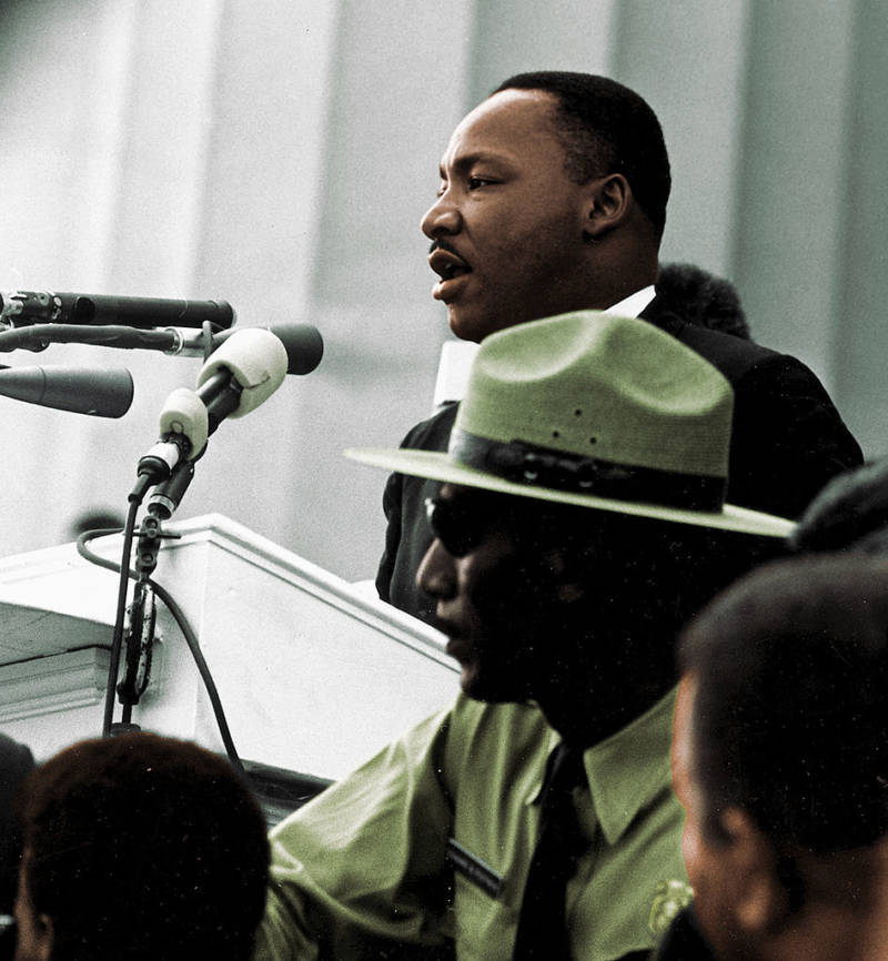 Martin Luther King Jr Giving I Have A Dream Speech