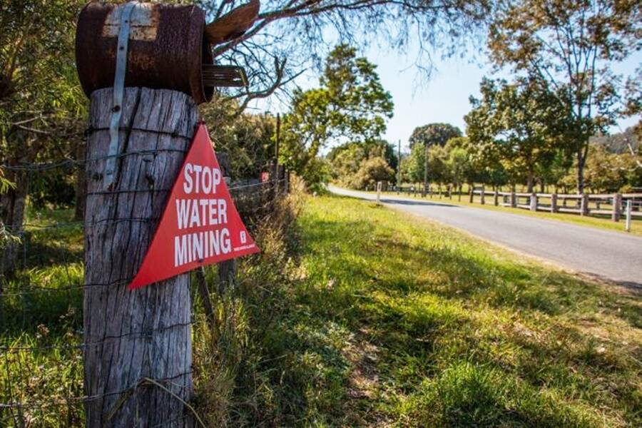 Sign Protesting Water Mining