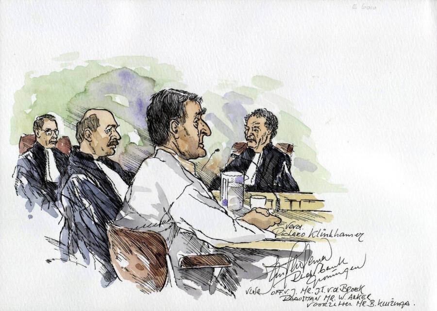 Sketch Of Richard Klinkhamer On Trial