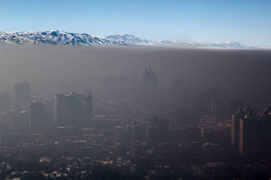 Smog In Almaty Kazakhstan