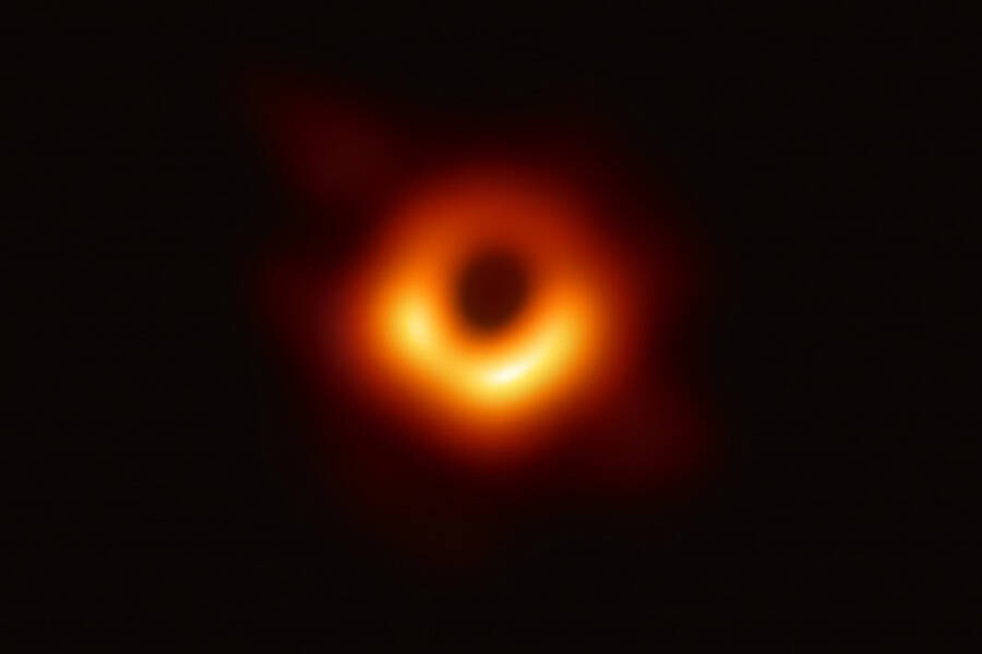 Supermassive Black Hole At Center Of M87