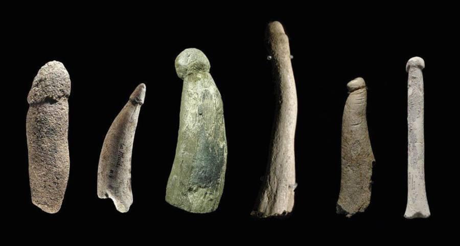 Ancient Phallic Pieces In The Hospital Universitario De Getafe Javier Angulo