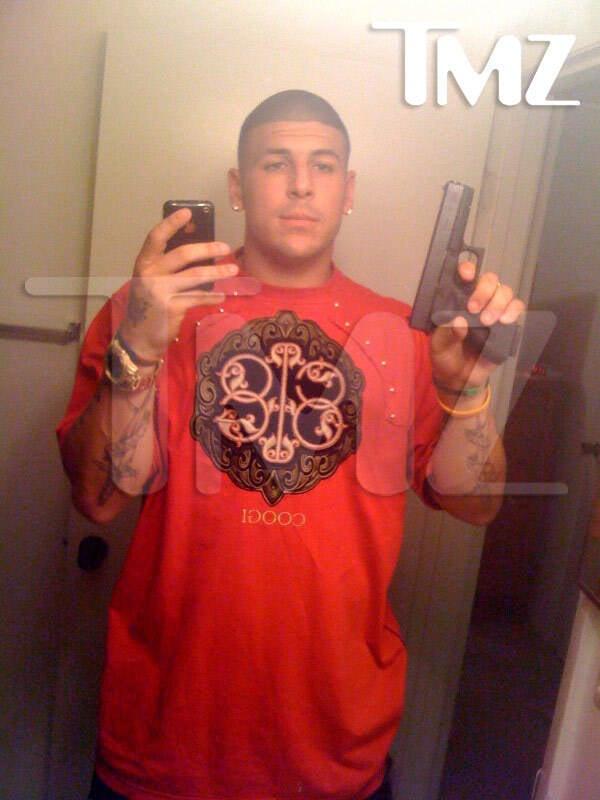 Aaron Hernandez Gun Selfie
