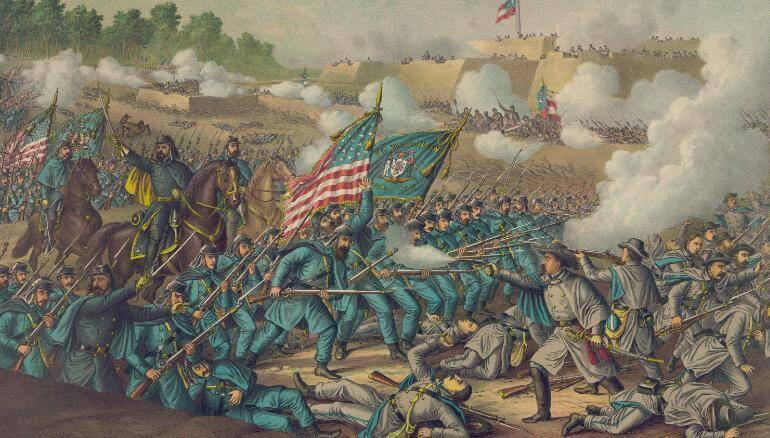 Battle Of Williamsburg Painting