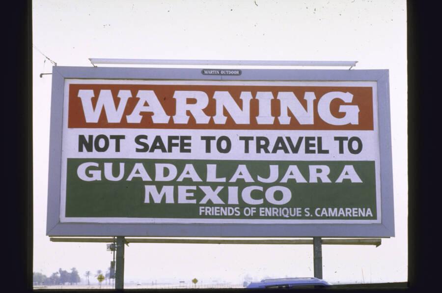 Danger In Guadalajara Sign