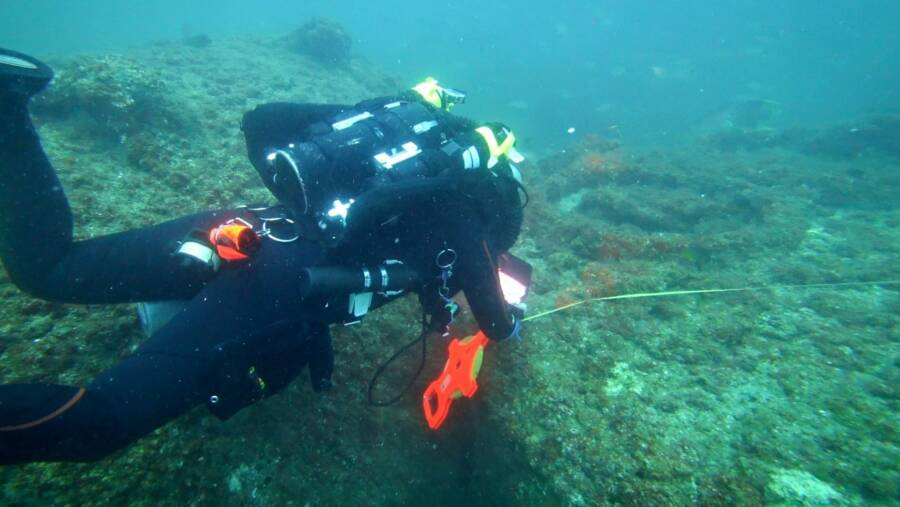 Diver Among Ss Cotopaxi Remains