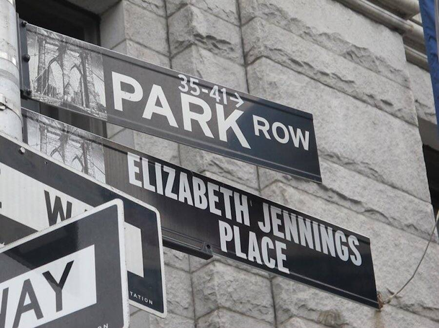 Elizabeth Jennings Place Street Sign