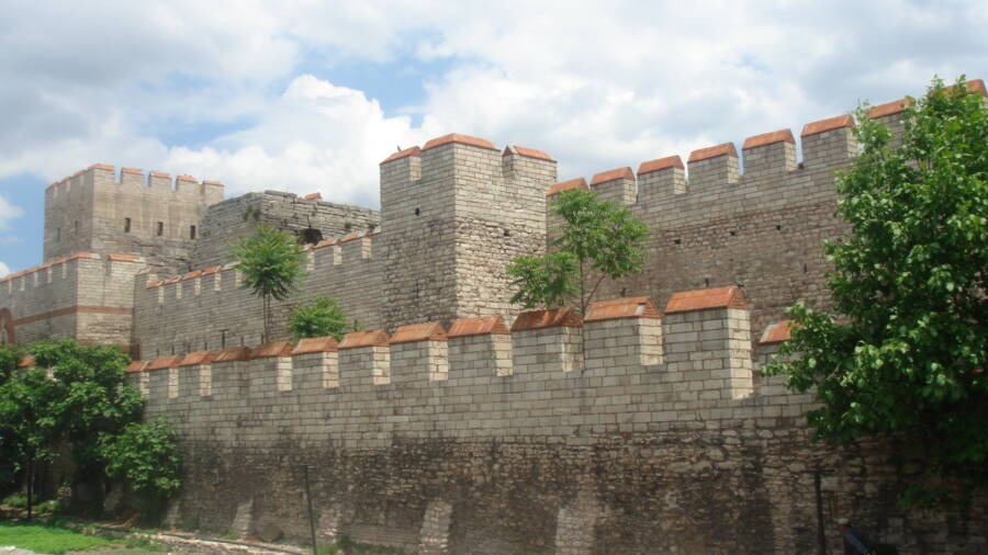 Extant Section Of Theodosian Walls