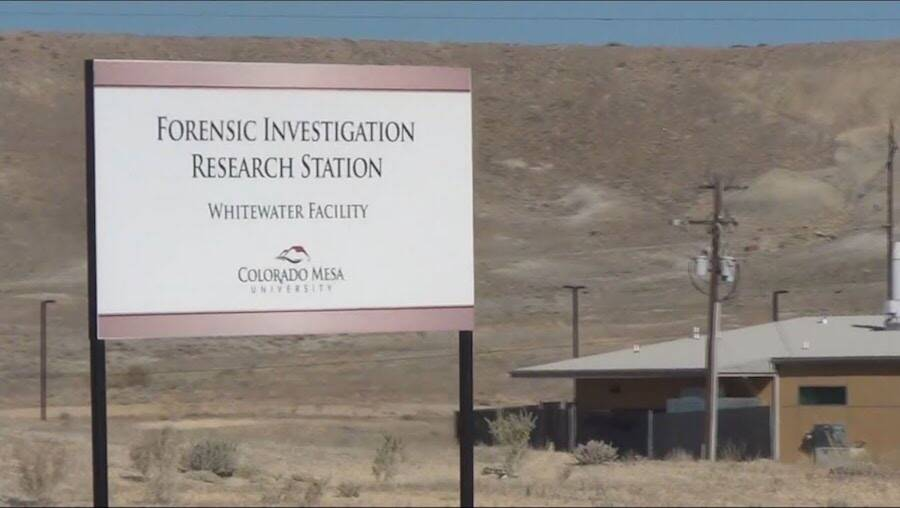 Forensic Investigation Research Station Sign
