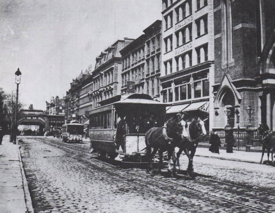 Horse Drawn New York City Streetcar