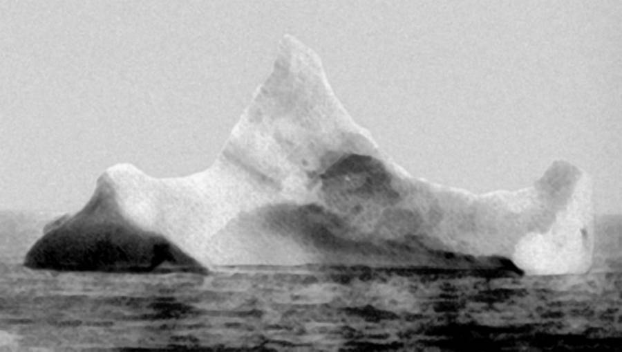 An iceberg suspected of sinking the Titanic