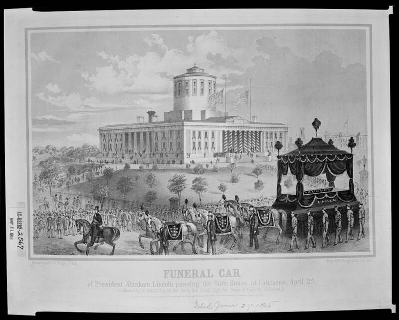 Illustrated Map Of Abraham Lincoln's Funeral