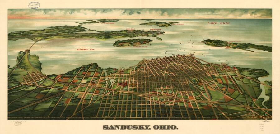Illustrated Panoramic Maps Sandusky Ohio 1898