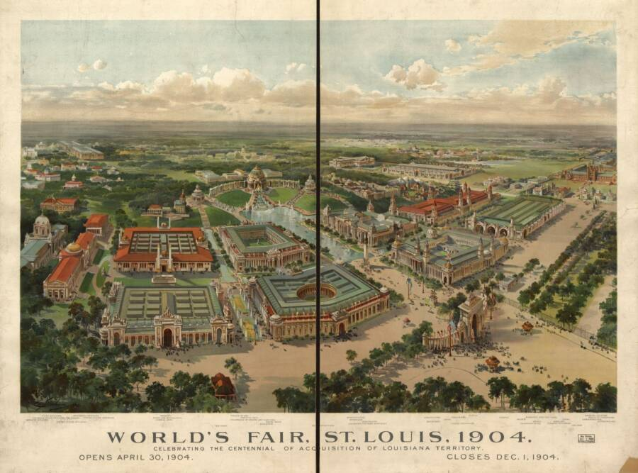 Map Of St. Louis During The World's Fair