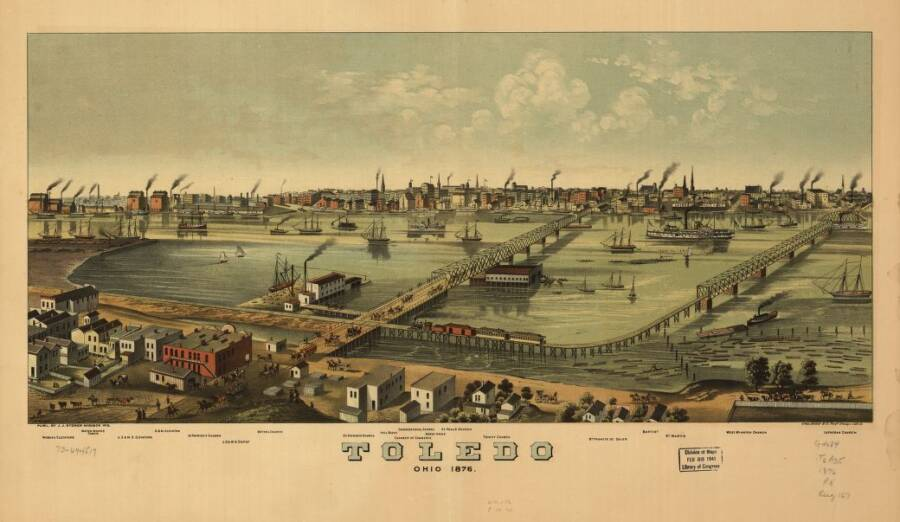 Illustrated Panoramic Maps Toledo Ohio 1876