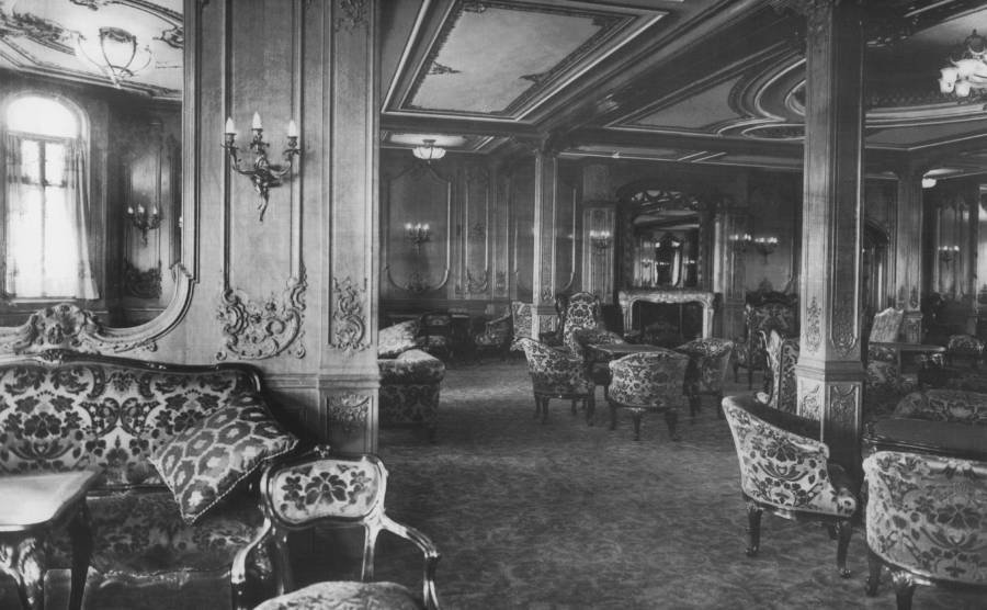 Luxurious interior of the Titanic