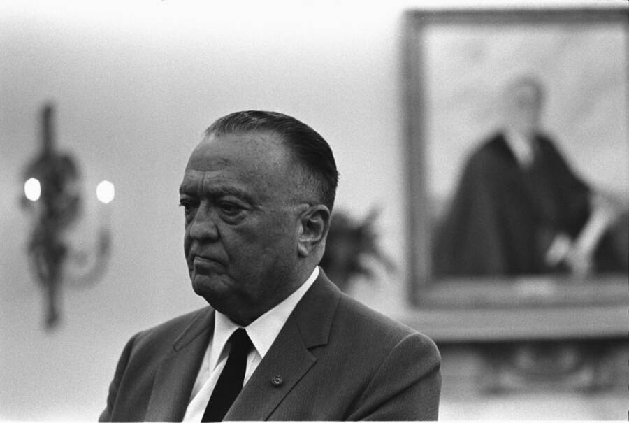 J Edgar Hoover In The Oval Office