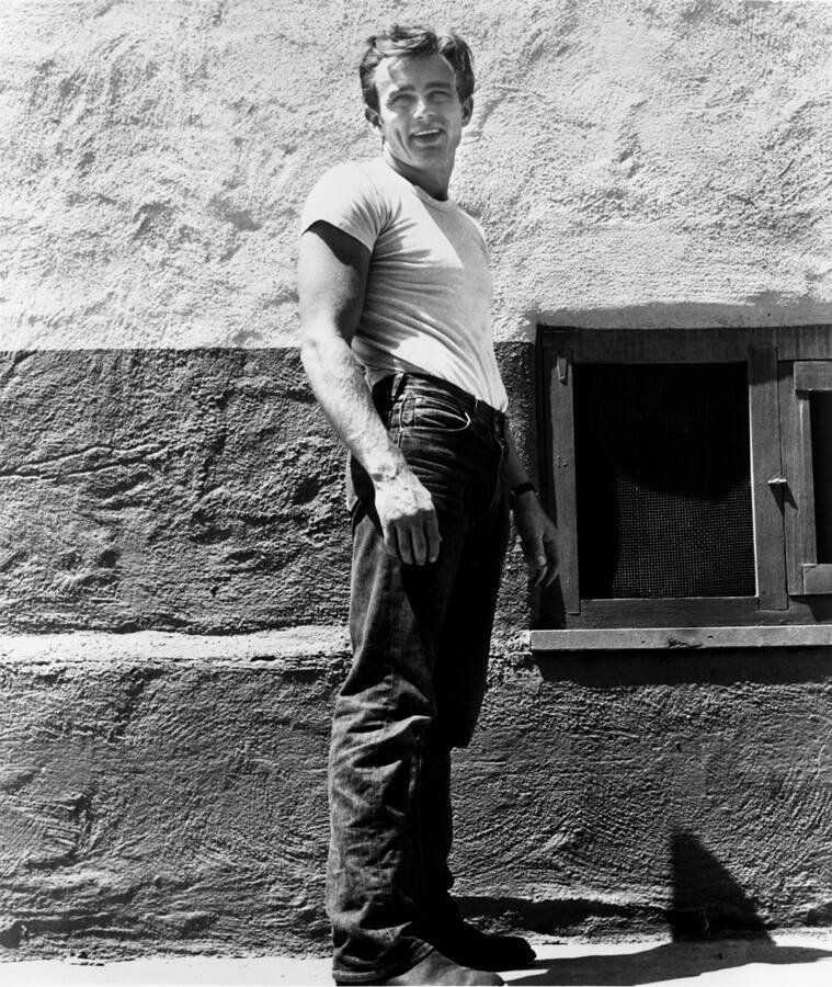 James Dean In White Tee