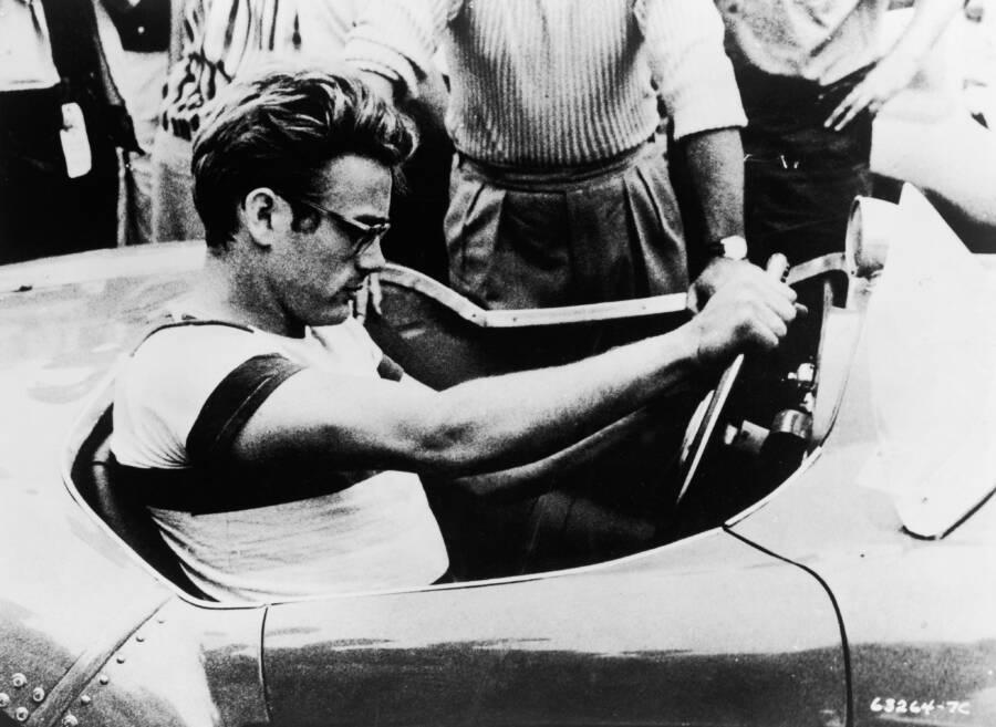 James Dean Inside Car