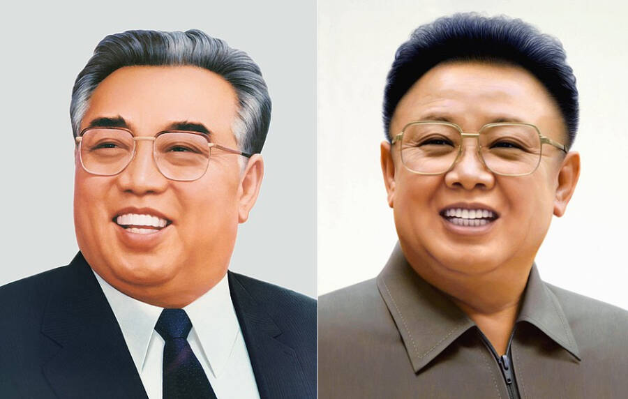 Kim Il Sung And Kim Jong Il Portraits