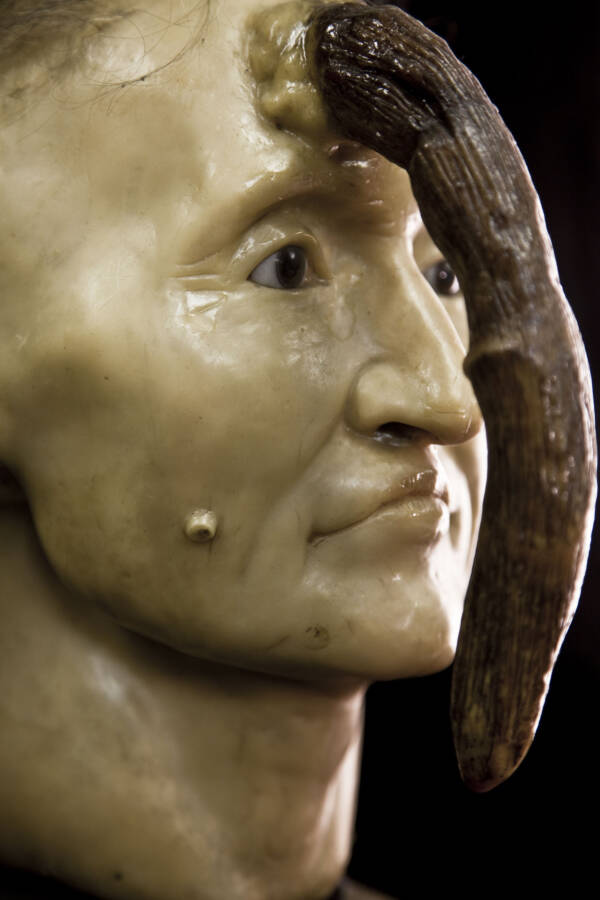 Sculpture Of Madame Dimanche