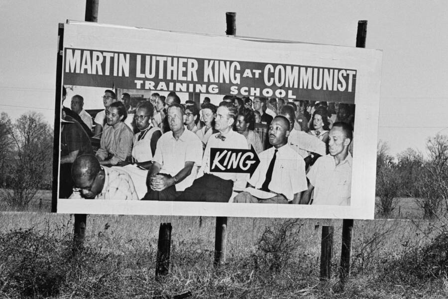 Martin Luther King On A Communist Billboard