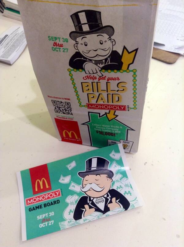 Mcdonalds Monopoly Game Piece