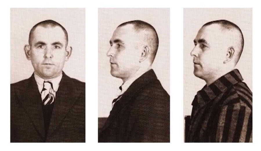 Mugshots Of Georg Elser After His Arrest