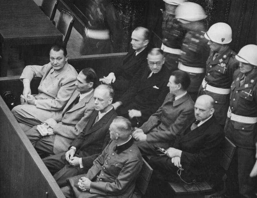 Nazis In The Docks At The Nuremberg Trials