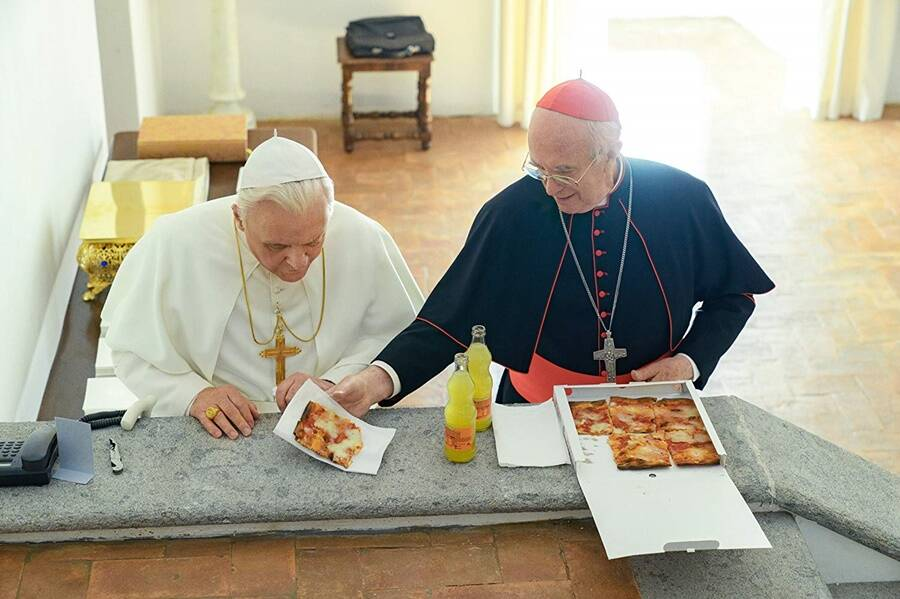 Pizza Lunch Between Benedict And Francis
