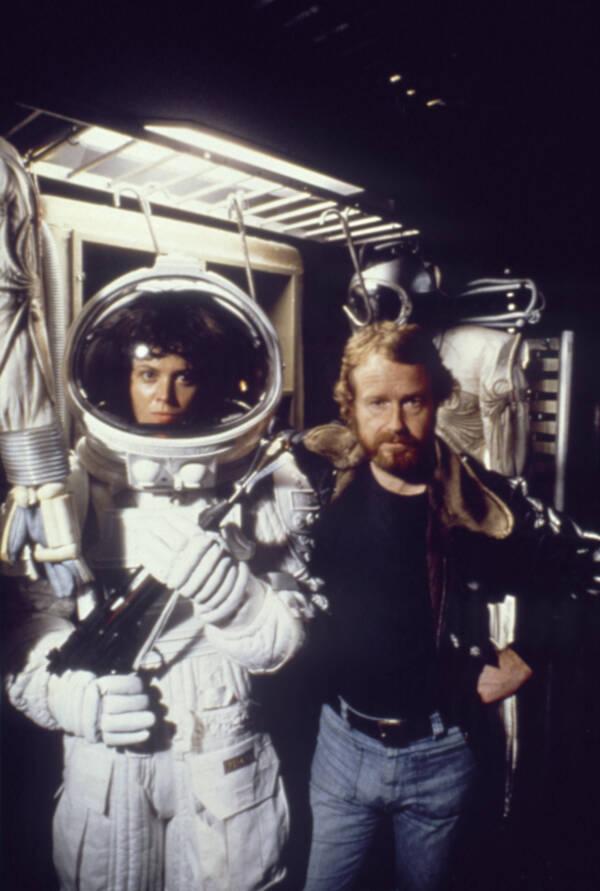 Ridley Scott And Sigourney Weaver