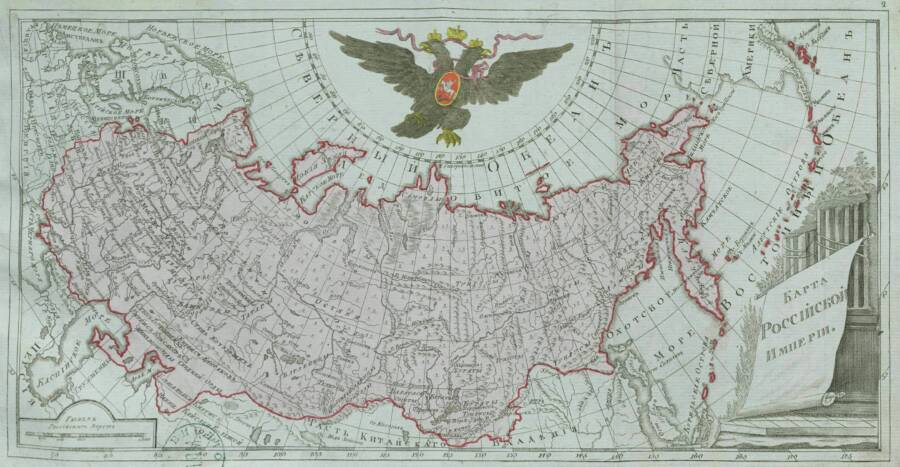 Map Of The 18th-Century Russian Empire