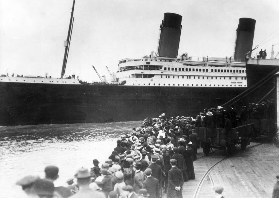 The Titanic sets sail in Southampton