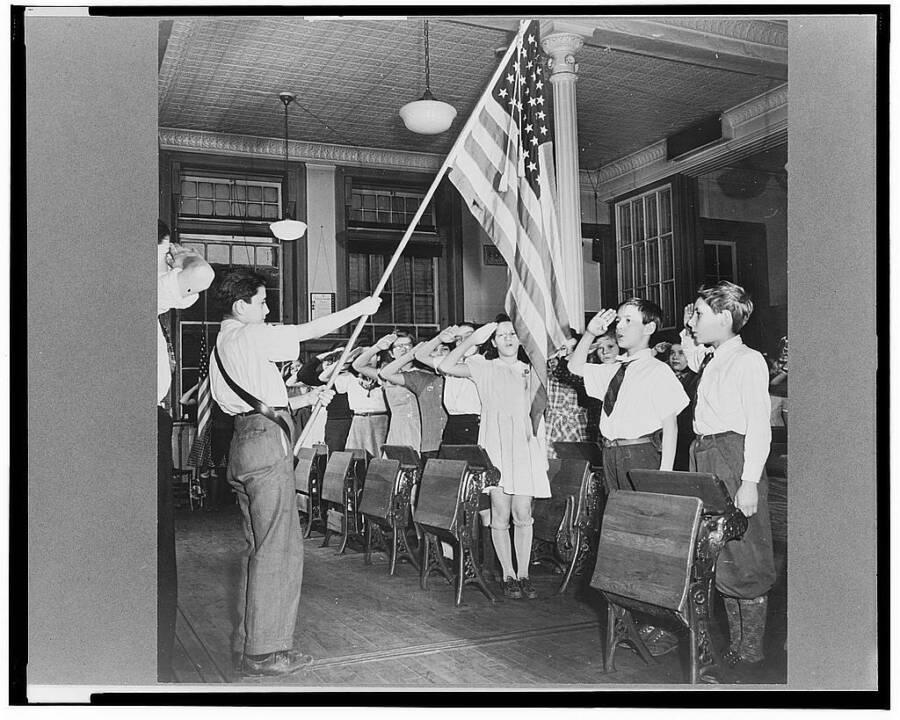 Students Pledging Allegiance