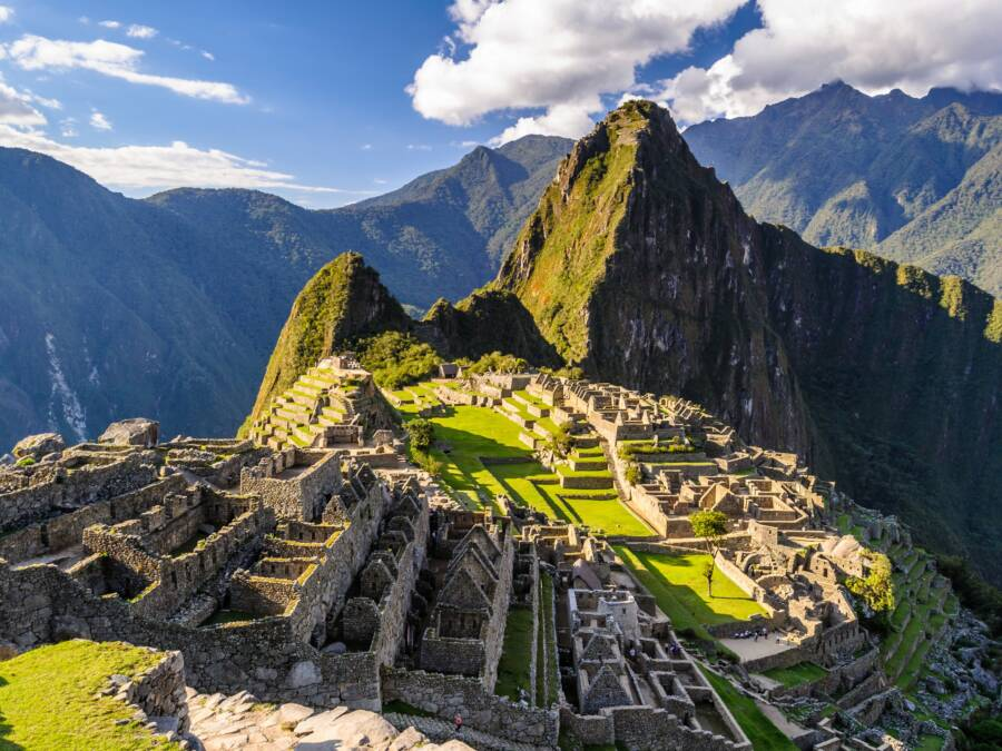 Sun Shining On Machu Picchu