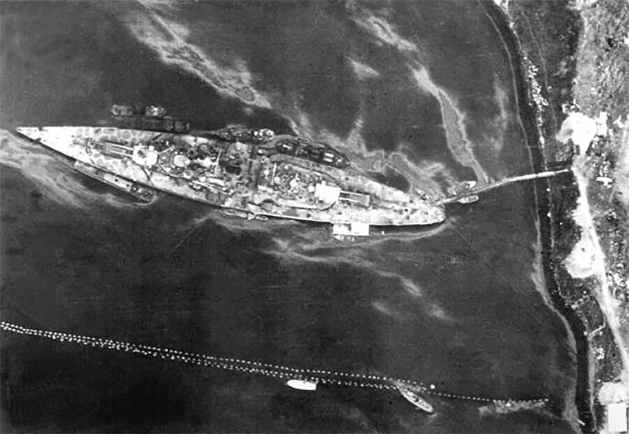 Tirpitz In Harbor