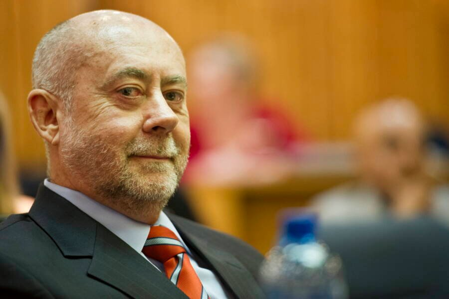 Wouter Basson Smirking In Court