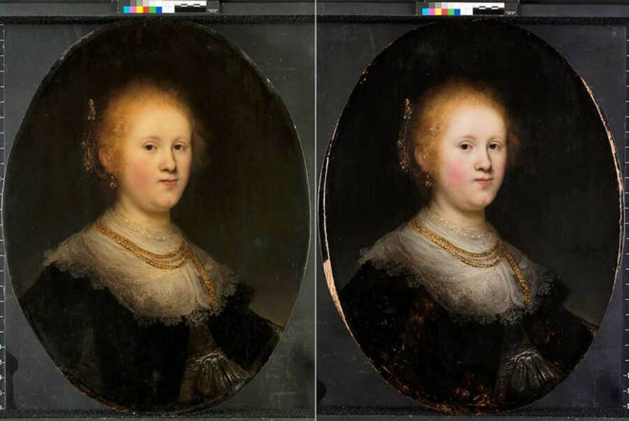 Before And After Of Rembrandt Painting