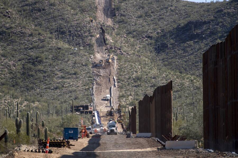 Border Wall Construction Site In Arizona