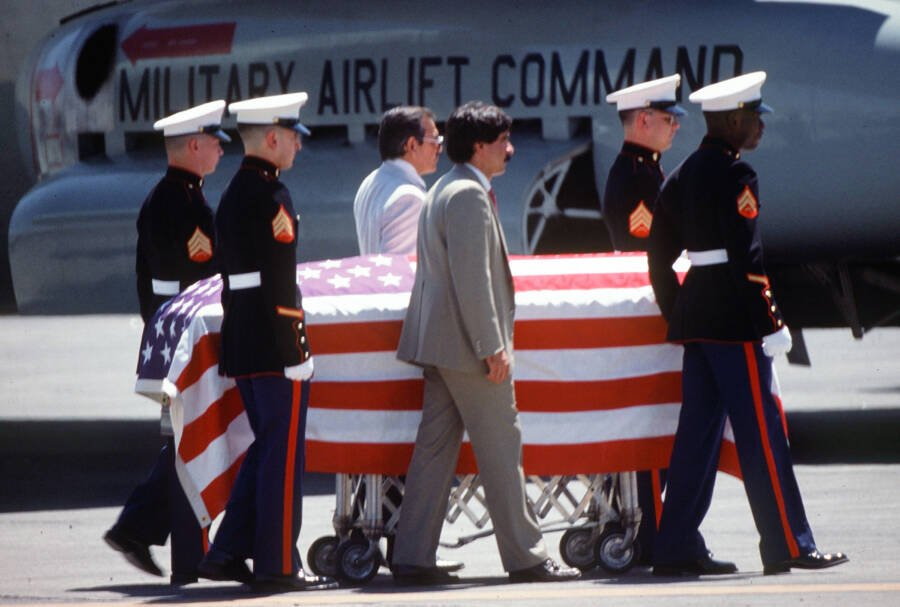Camarena's Flag Covered Casket