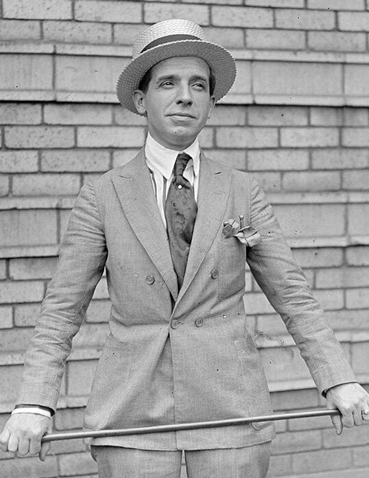 Charles Ponzi Holding A Cane