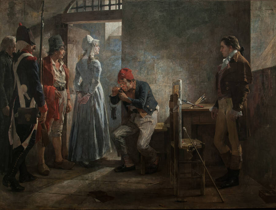Charlotte Corday Is Led To The Guillotine