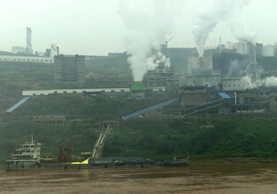 Factory Along The Yangtze