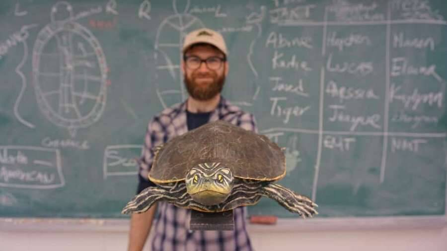 Gregory Bulte Holding A Turtle