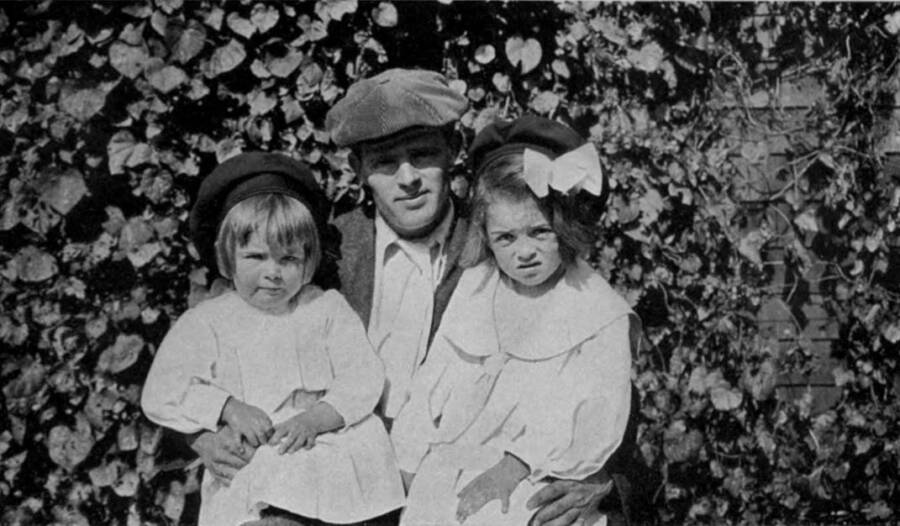 Jack London With His Daughters